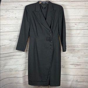 ESCADA Vintage 100% New Wool Wrap Dress 40 or 10